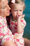 beach, beach photos, mother and child, mother and daughter photographs, portrait, matching pajamas, bead head pajamas