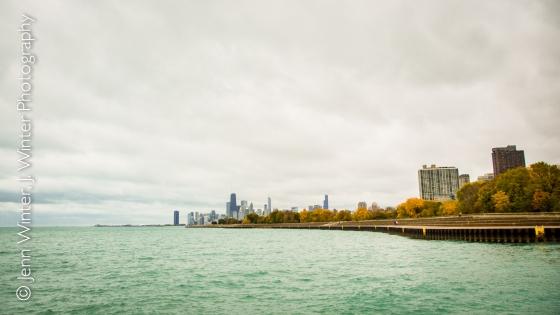 chicago, autumn, belmont harbor