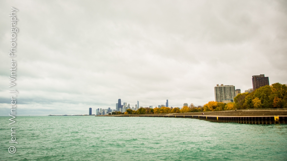chicago, autumn, belmont harbor