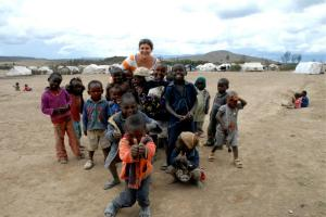 Working at an IDP Camp with VICDA in 2009.